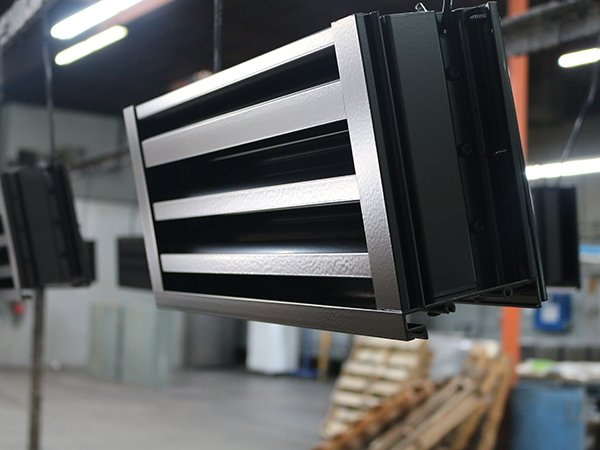 Black Aluminum Air Vent Panel