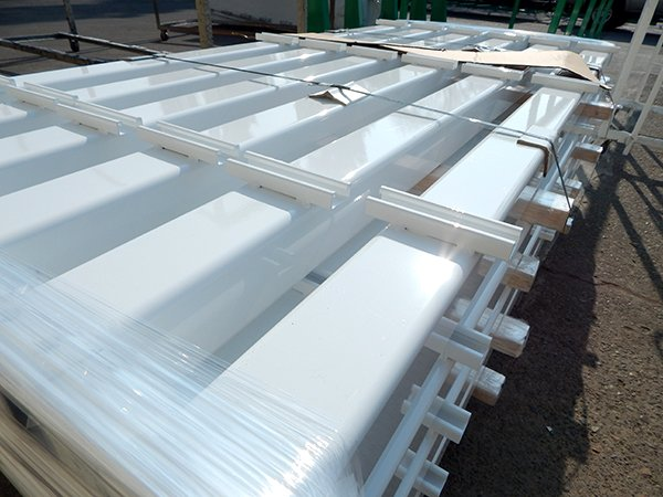 Steal Beams Powder Coated White