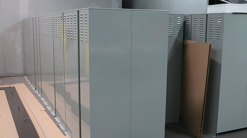 grey electrical boxes