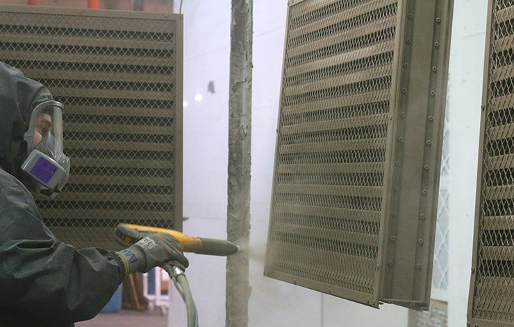 powder coating HVAC aluminum