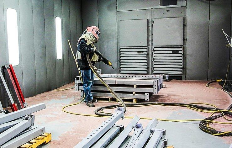 sandblasting metal tubes